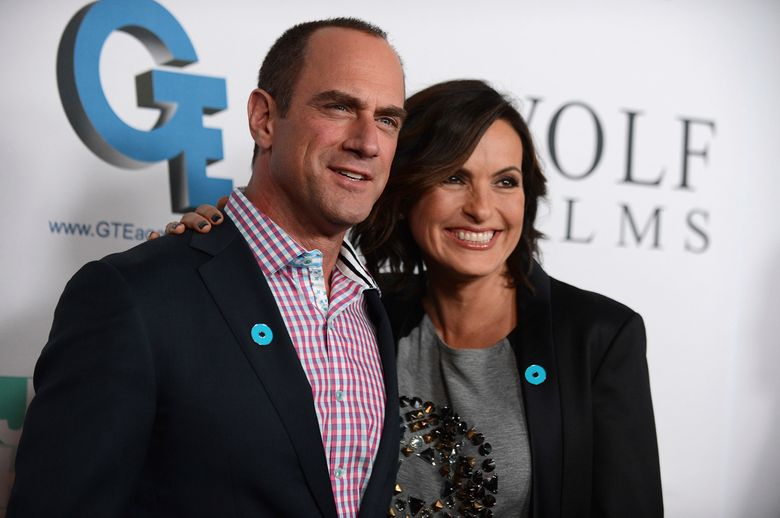 """FILE – In this Sept. 26, 2013, file photo, Christopher Meloni, left, and Mariska Hargitay arrive at JoyROCKS launch of the No More PSA Campaign at the MILK Studios in Los Angeles. The former """"Law & Order: Special Victims Unit"""" co-stars reunited for a selfie posted on Instagram Tuesday, Dec. 20, 2016. (Photo by Jordan Strauss/Invision/AP, File)"""
