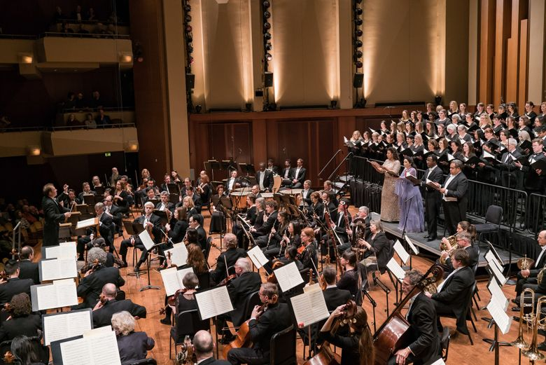 The Seattle Symphony, with guest musicians and vocalists, perform works by Messiaen and Beethoven this weekend. (Brandon Patoc)