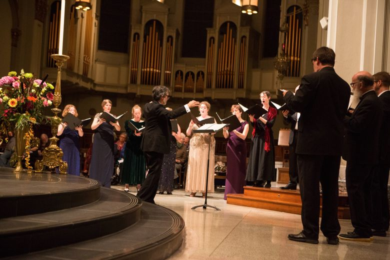 Cappella Romana in September 2016 at St. James Cathedral. CR specializes in music from the Byzantine and Orthodox Christian traditions.
