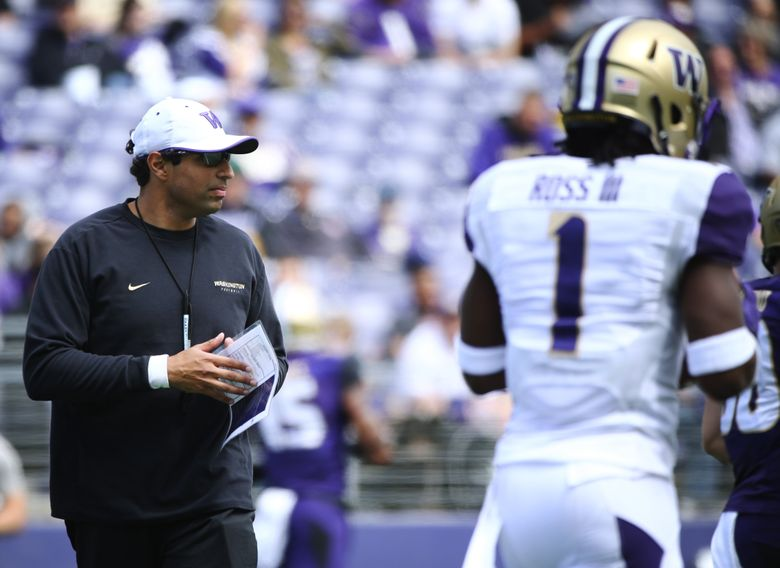 Bush Hamdan was an offensive quality-control coach for UW in 2015 and the wide receivers coach in 2016. (Lindsey Wasson/The Seattle Times)