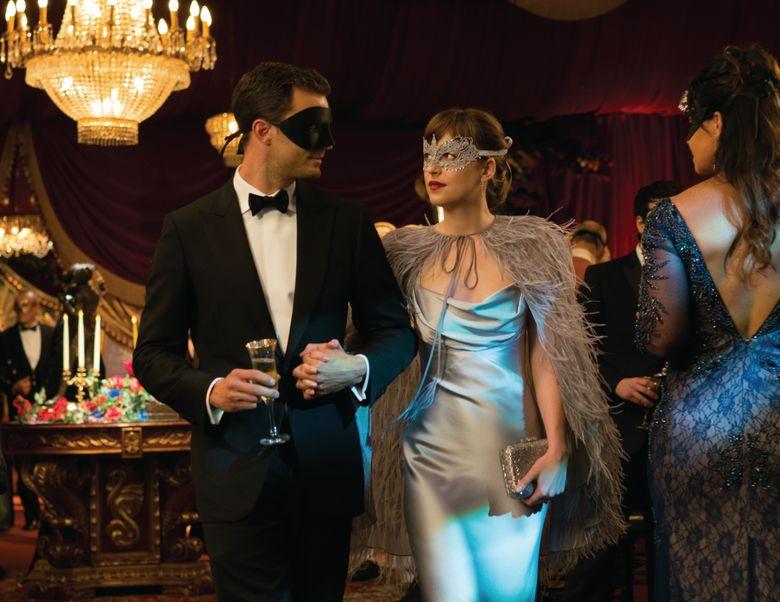 "Jamie Dornan and Dakota Johnson return as the amorous couple Christian Grey and Anastasia Steele in ""Fifty Shades Darker.""  (Photo Courtesy of Doane Gregory)"