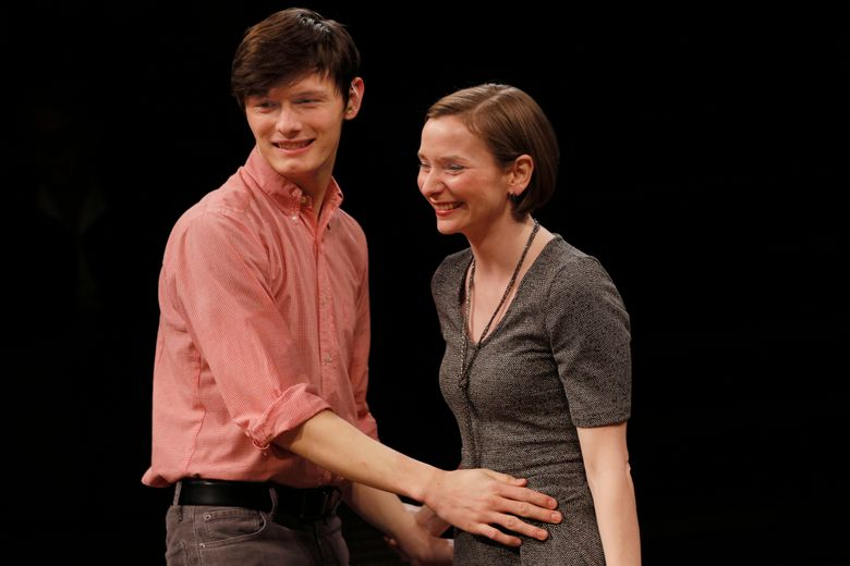 """Joshua M. Castille and Lindsay W. Evans in """"Tribes"""" at ACT. (Chris Bennion)"""