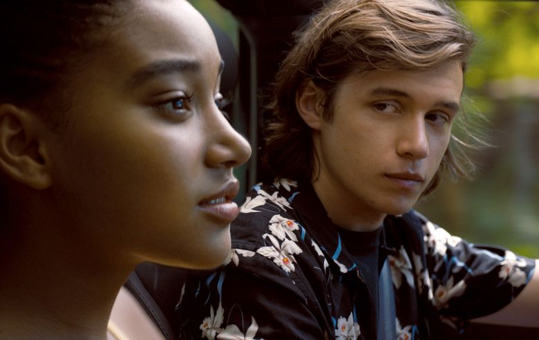 """An ill girl (Amandla Stenberg) breaks out of her bubble when she meets a boy (Nick Robinson) in """"Everything, Everything."""" (Courtesy Warner Bros. Entertainm/Courtesy Warner Bros. Entertainm)"""