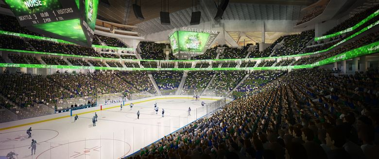 """NHL Seattle has spent the past month culling suspected ticket """"brokers"""" from a list of 32,000 season ticket depositors. The defintion used by the team to define what constitutes a broker could be bad news for any fans looking to profit off future season tickets by reselling a large volume of them on the secondary market. (Oak View Group / via AP)"""