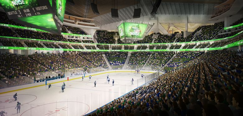 The Symetra brand will be featured prominently throughout a rebuilt KeyArena when the $930 million project is finalized and reopens by the  summer of 2021. (Oak View Group)