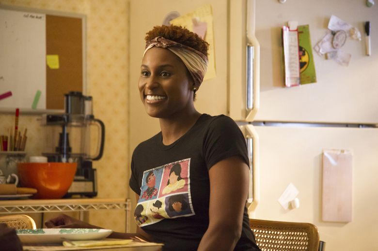 """Issa Rae didn't receive an Emmy nomination for """"Insecure."""" (Anne Marie Fox/HBO via AP)"""