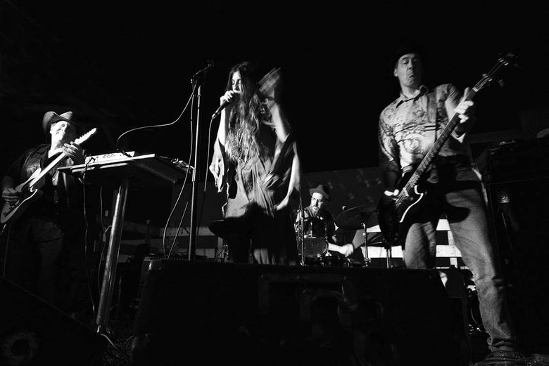 Krist Novoselic plays with his new band Giants in the Trees. (Photo by Melanie Yaris)