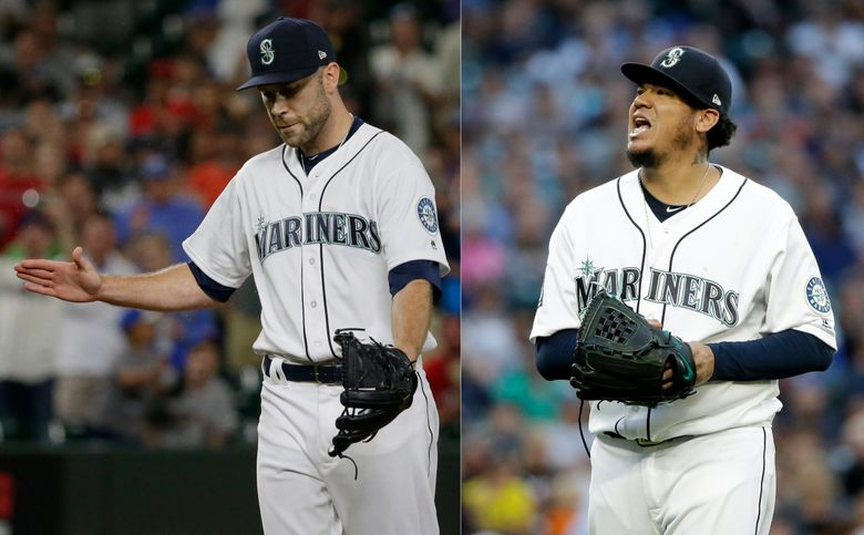 David Phelps, left, and Felix Hernandez, right, will both miss extended time with arm injuries. (AP file)
