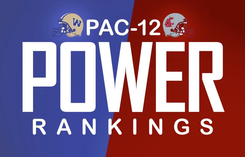 Pac-12 power rankings logo. (Rich Boudet / The Seattle Times)