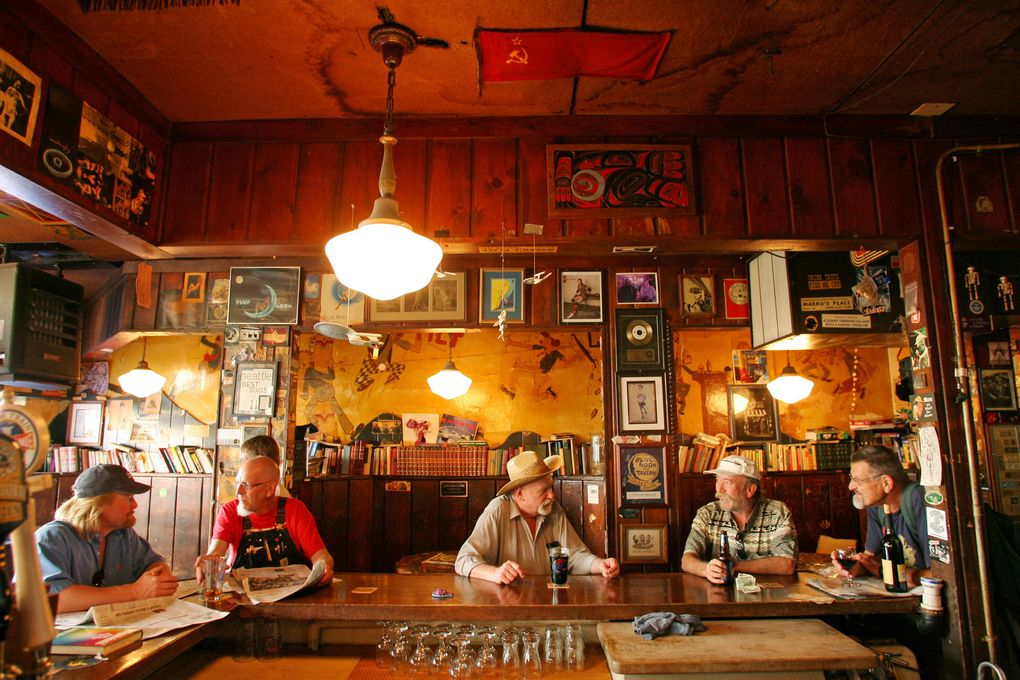 The Blue Moon Tavern in the University District was founded in 1934 but is not protected by official landmark status. (Scott Cohen/The Seattle Times)