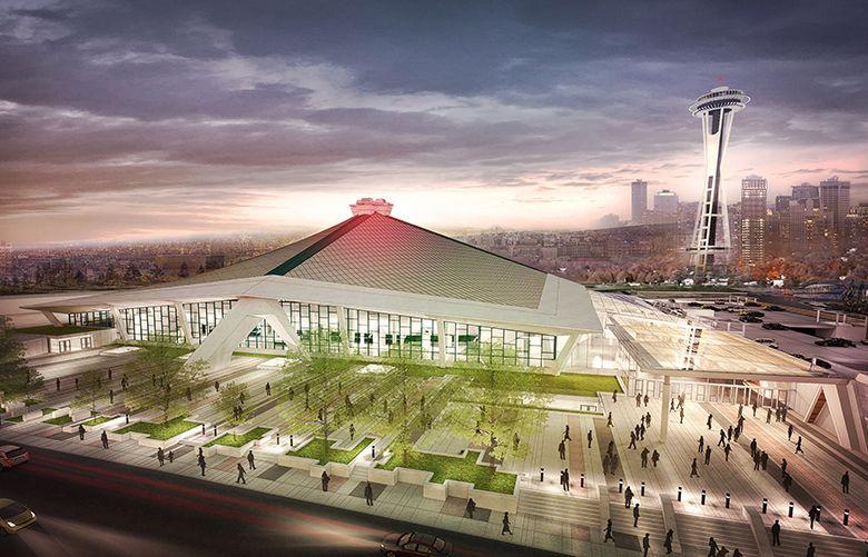 An Oak View Group rendering of proposed KeyArena renovation.  (Oak View Group)