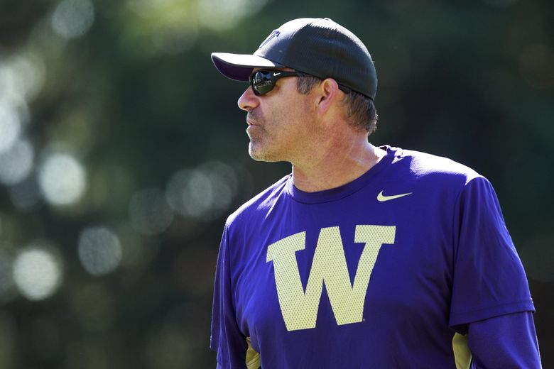 After four years as UW's defensive coordinator, Pete Kwiatkowski has volunatrily ceded play-calling duties to Jimmy Lake. (Erika Schultz / The Seattle Times)