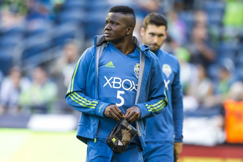 The Sounders' Nouhou is one of only four active Cameroonians in MLS, along with Vancouver's Tony Tchani.  (Bettina Hansen/The Seattle Times)