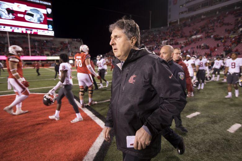 Washington State coach Mike Leach. (Bettina Hansen/The Seattle Times)