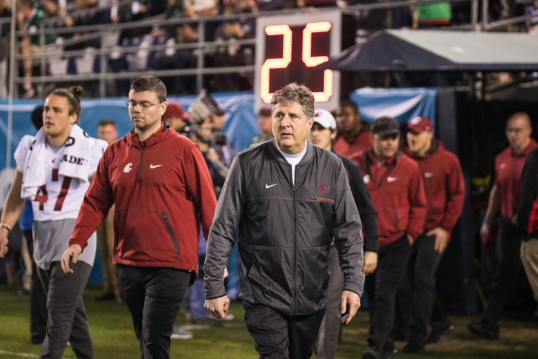 Mike Leach and the WSU Cougars are off to a fast start to kick off the Early Signing Period. (Dean Rutz / The Seattle Times)