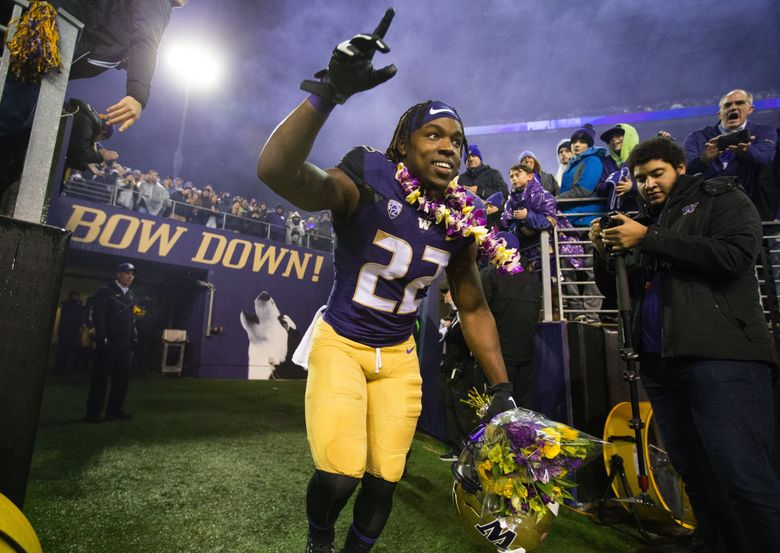 Running back Lavon Coleman rushed for 2,000 yards in his UW career. (Mike Siegel / The Seattle Times)