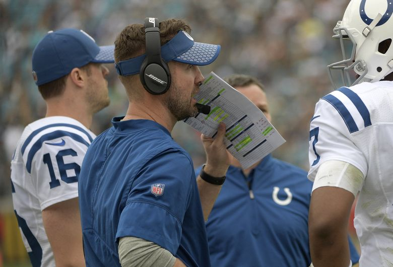 Indianapolis Colts quarterbacks coach Brian Schottenheimer is reportedly set to become the new offensive coordinator of the Seahawks. (AP Photo/Phelan M. Ebenhack)