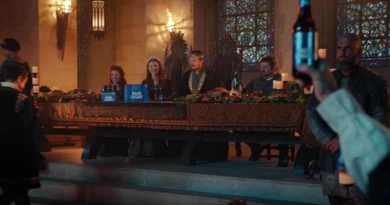 """Bud Light's original """"Banquet"""" commercial. (Screengrab via Bud Light/Youtube)"""