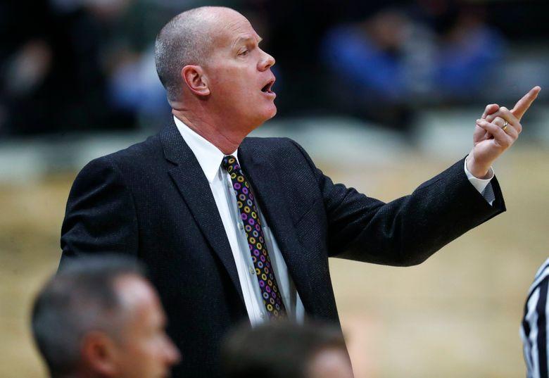 Colorado head coach Tad Boyle directs his team against Washington earlier this month. (David Zalubowski/AP)