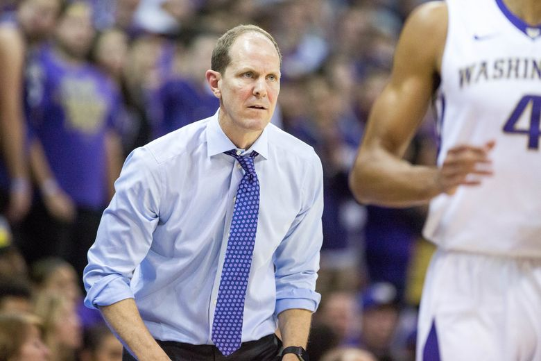 Huskies coach Mike Hopkins likes how the Pac-12 does its schedule, with games usually on Thursdays and Saturdays during conference play. (Courtney Pedroza/The Seattle Times)