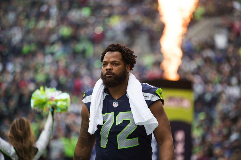 Seahawks defensive lineman Michael Bennett. (Dean Rutz / The Seattle Times)