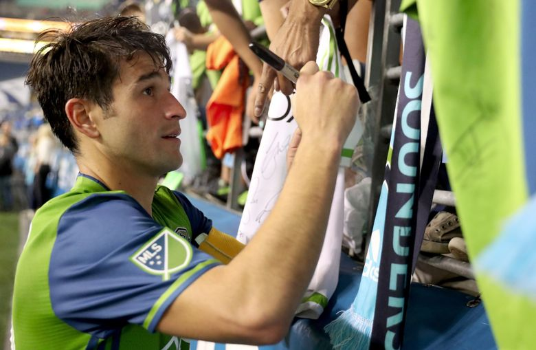 Midfielder Nicolas Lodeiro is one of the Sounders' three designated players, meaning he is among the team's highest-paid players. (Erika Schultz/The Seattle Times)