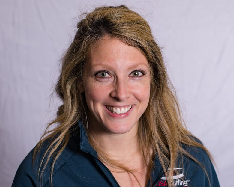 """Carly Anderson says in curling, """"you have to be focused on the present moment, rather than the last missed shot or an upcoming shot."""" (Rich Harmer/Courtesy USA Curling)"""