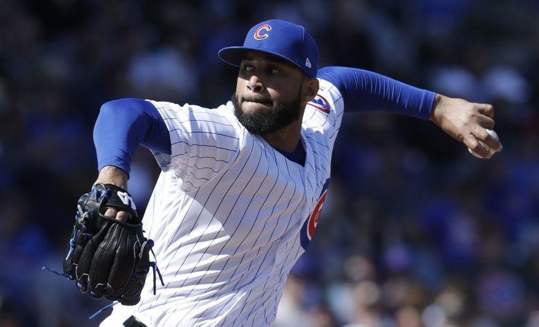 Chicago Cubs relief pitcher Dario Alvarez. (Carlos Osorio / Associated Press)