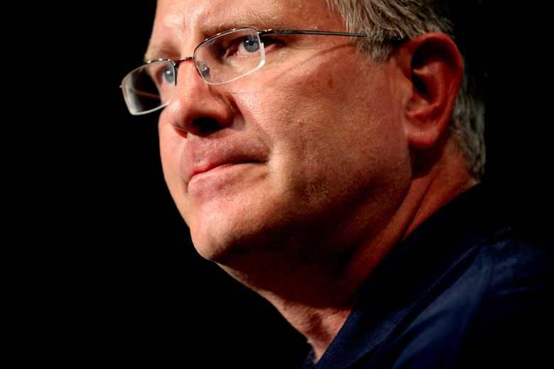Former Seahawks CEO Tod Leiweke has resigned as NFL chief operating officer and is expected to join the Oak View Group to run an anticipated NHL franchise in Seattle. (Erika Schultz/The Seattle Times)