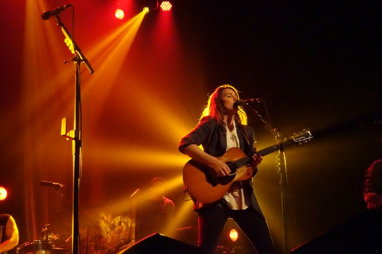 Brandi Carlile performs at The Moore Theatre on Friday, the first of her two sold-out shows there. (Michael Rietmulder / The Seattle Times)