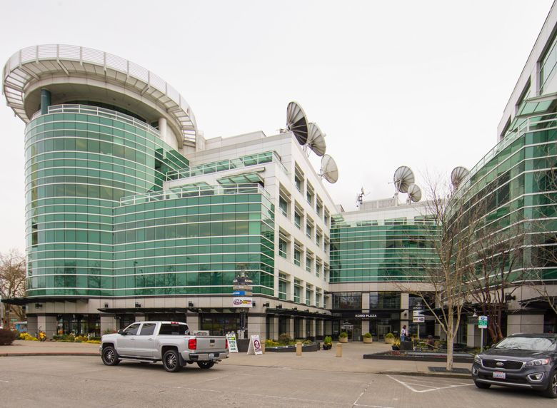 KOMO Plaza, the headquarters of Sinclair-owned KOMO TV, is located in downtown Seattle near the Space Needle. (Mike Siegel / The Seattle Times)