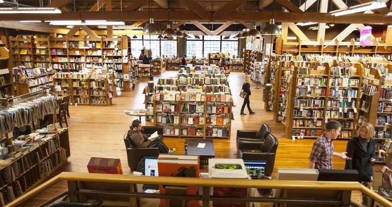 Elliott Bay Book Company in Capitol Hill is among the nearly two dozen businesses taking part in Seattle Independent Bookstore Day. (Mike  Siegel / The Seattle Times, 2013)