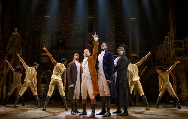 """Seattle caught """"Hamilton"""" fever when a tour of Lin-Manuel Miranda's juggernaut of a musical came to the Paramount Theatre in February. (Joan Marcus)"""
