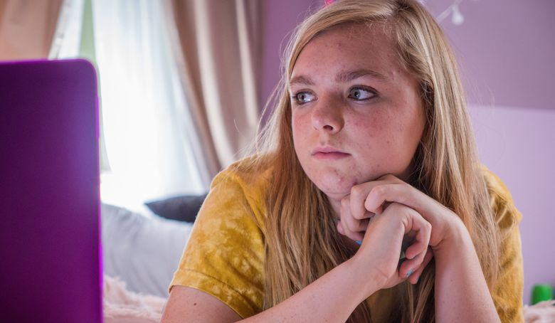 """Elsie Fisher plays an awkward, introverted teen who endures the final week of """"Eighth Grade."""" (Courtesy of SIFF)"""