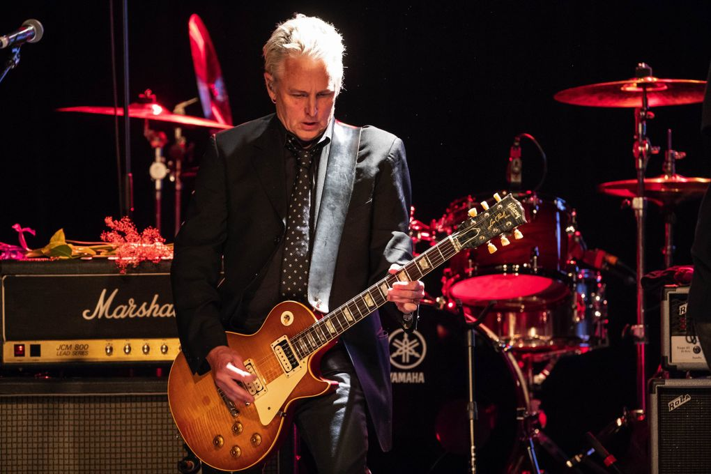 Pearl Jam guitarist Mike McCready headlined an all-star show at the Showbox in May to celebrate an honor bestowed on him by the Recording Academy's MusiCares for his work in aiding those in the industry suffering from addiction. (Dean Rutz / The Seattle Times)