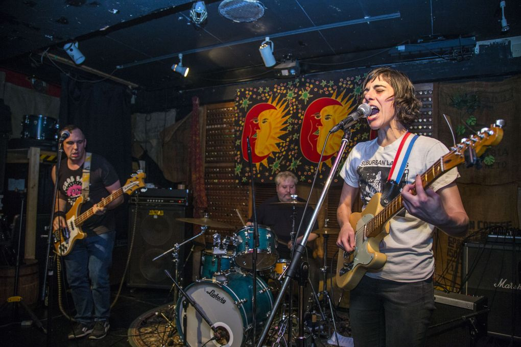 Wimps singer/guitarist Rachel Ratner, right, a web developer by day, moved to Columbia City after a $500-a-month rent increase on the Central District house she shared. (John Yingling)