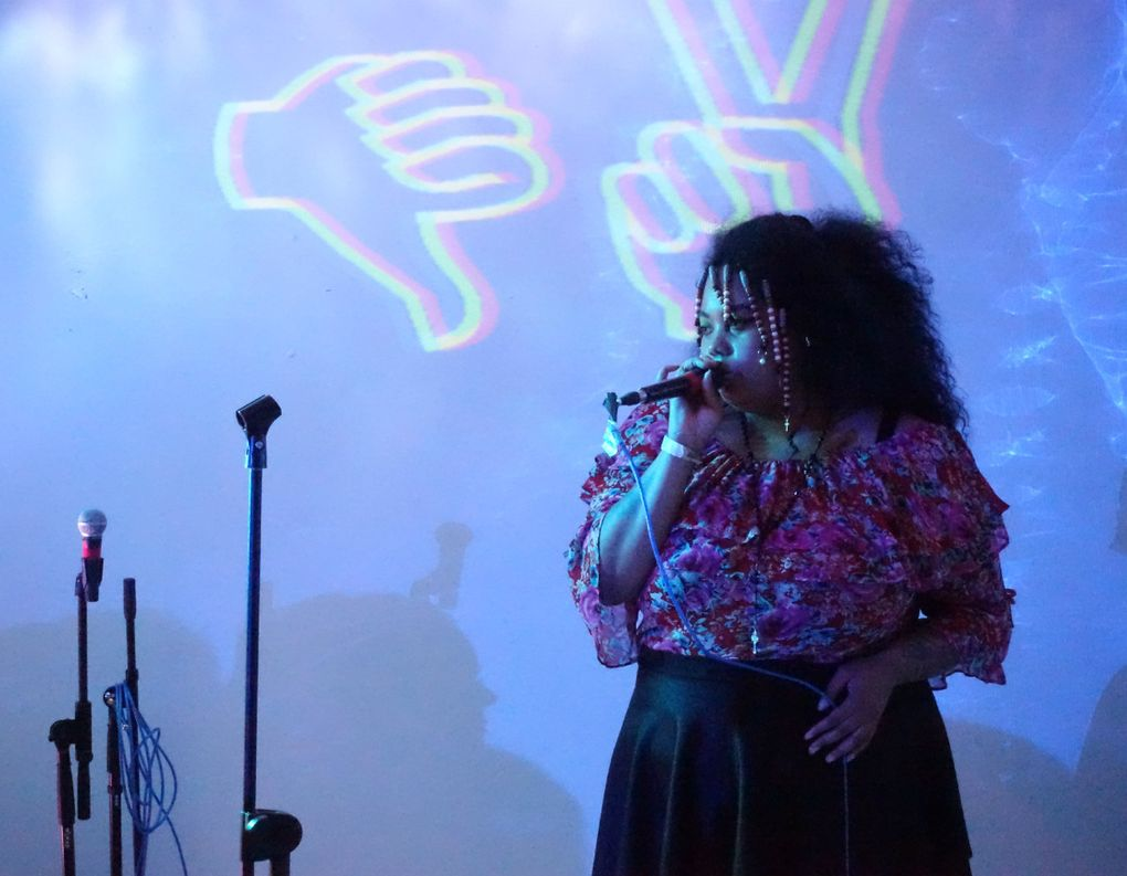 """After leaving Seattle, rapper Guayaba commuted up to two hours from Bremerton several nights a week to play shows. """"I was not able to sustain myself,"""" she says of living in the city. """"I just moved back home and decided that the commute was more worth it."""" (Michael Rietmulder / The Seattle Times)"""