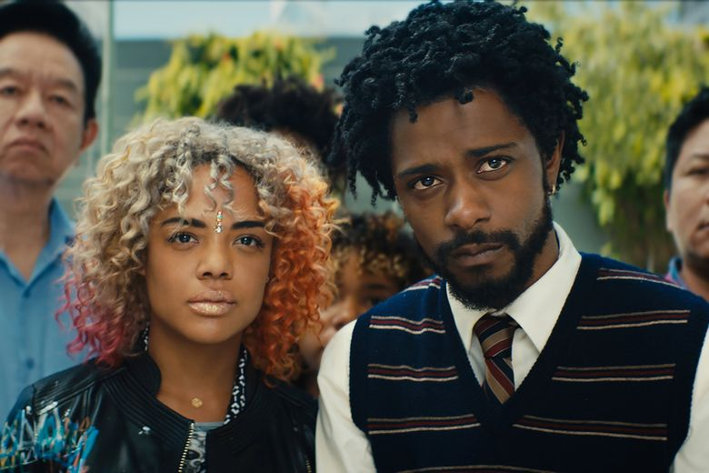 """""""Sorry to Bother You,"""" starring Tessa Thompson and Lakeith Stanfield, is an inventive satirical comedy. (Annapurna Pictures)"""