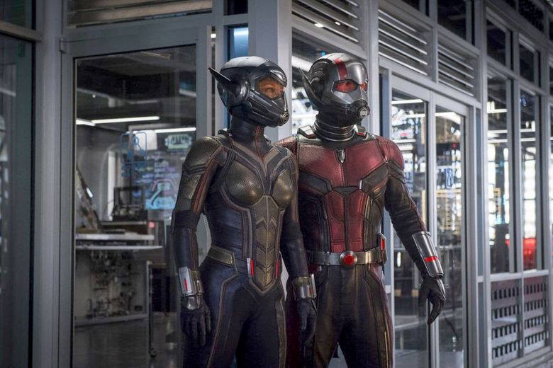 """Evangeline Lilly and Paul Rudd suit up for """"Ant-Man and the Wasp."""" (Marvel Studios)"""