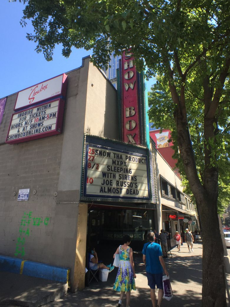 The Showbox as seen on Wednesday, July 25, 2018 in Seattle. (Steve Ringman / The Seattle Times)
