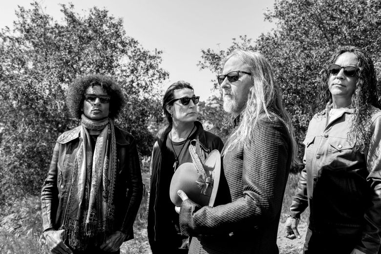 """Alice in Chains — whose """"Rainier Fog,"""" dropping Aug. 24, marks their first album in five years — will play atop the Space Needle on Tuesday, Aug. 21. (Pamela Littky )"""