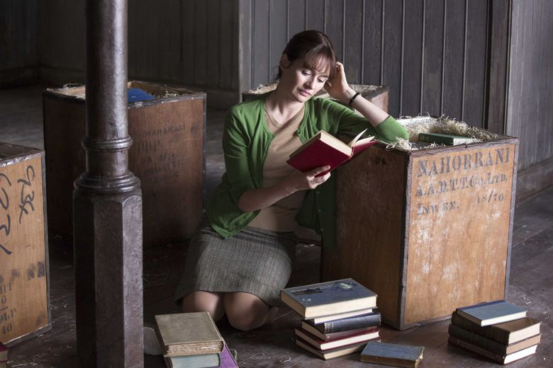 """A young, rather idealistic widow (Emily Mortimer) decides to open her own business in """"The Bookshop."""" (Courtesy Greenwich Entertainment)"""