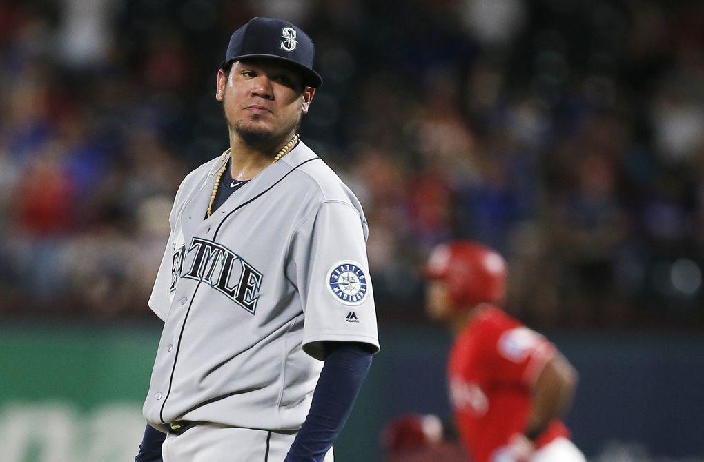 Mariners starter Felix Hernandez. (Brandon Wade / The Associated Press)