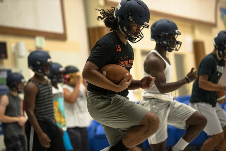 Decatur's Jeremiah Palaita is back from injury and ready to continue where he left off. (Rebekah Welch / The Seattle Times)
