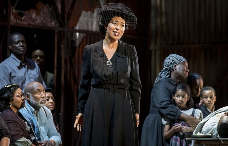 """Mary Elizabeth Williams steals the show as Serena in Seattle Opera's """"Porgy and Bess."""" Seattle Opera is one of many local arts organizations with options for discounted tickets to performances. (Philip Newton)"""