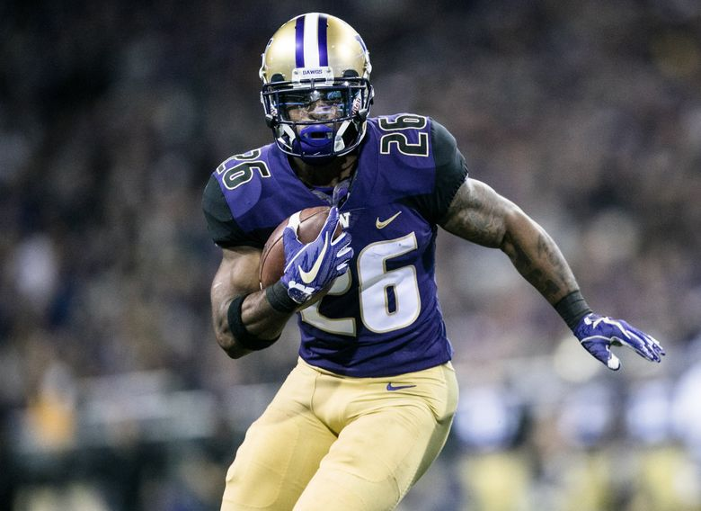 UW's Salvon Ahmed be counted on to be the lead running back for the Huskies this season?. (Rebekah Welch / The Seattle Times)