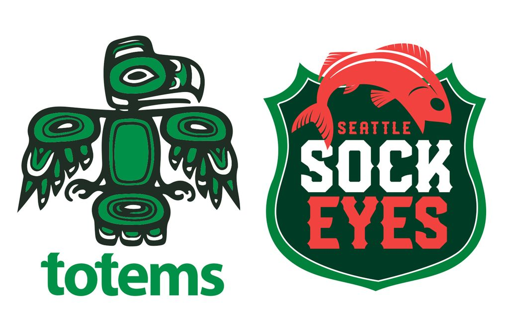 (Logos by Rich Boudet / The Seattle Times)