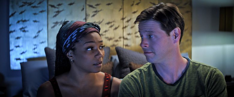 """Tiffany Haddish and Ike Barinholtz star in """"The Oath."""" (Courtesy of Topic Studios and Roadside Attractions)"""