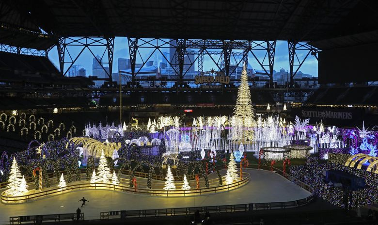 Enchant Christmas at Safeco Field in 2018. (Ken Lambert / The Seattle Times)
