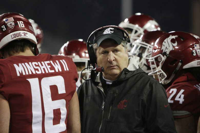 Washington State head coach Mike Leach denied that he has interest in returning to coach at Texas Tech. (Young Kwak / The Associated Press)